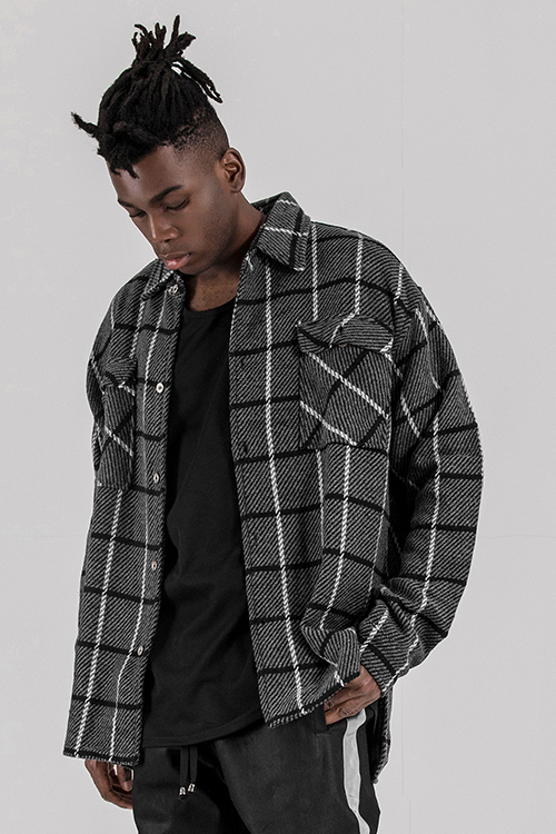 Wool Blend Flannel ShirtsRogue Black