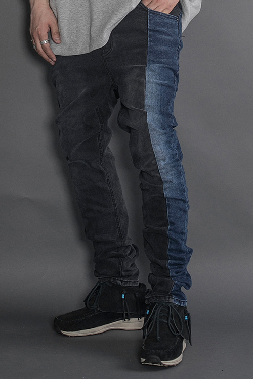 RE-LAB#005 Washed Twoface JeanNew Slim Fit