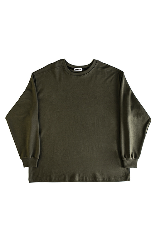 2019FWOver Fit CrewneckMilitary Green
