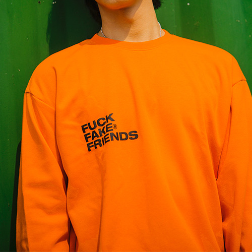 2020SS 'FUCK FAKE FRIENDS'  LOGO TEE Orange