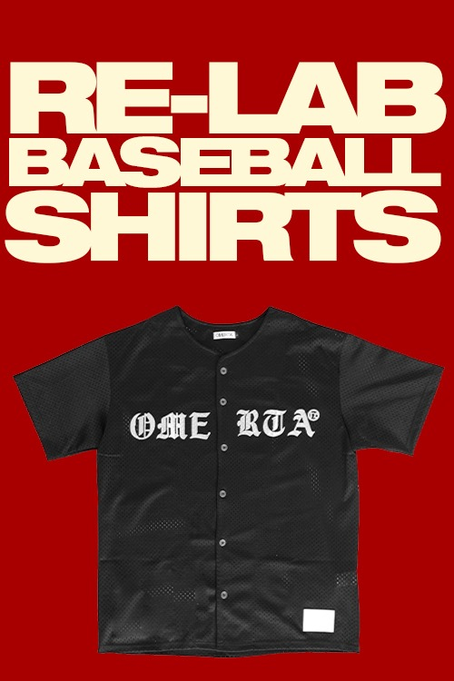 RE-LABBaseball SetMesh ShirtsBlack